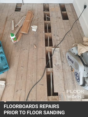 floorboards repairs prior sanding