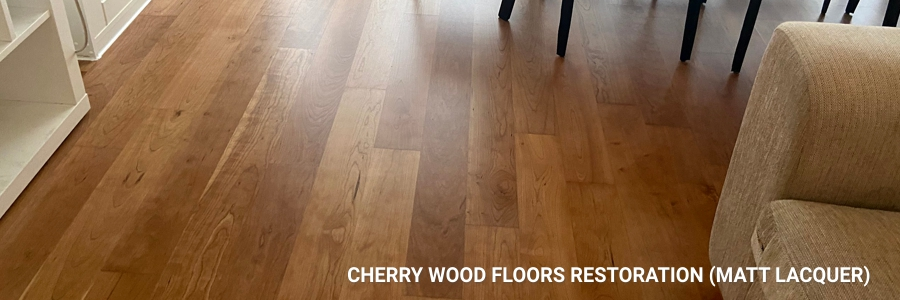 Engineered Cherry Floors Restoration Matt 1