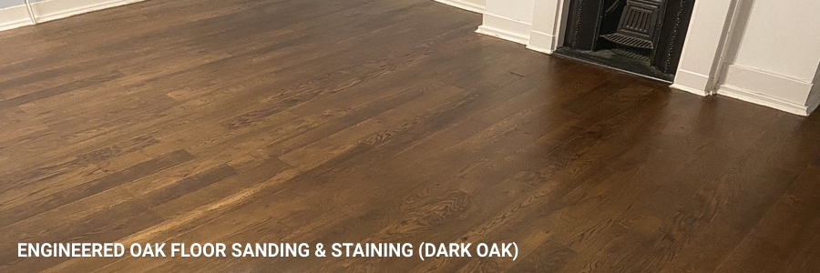 Engineered Oak Floor Sanding Dark Oak 1