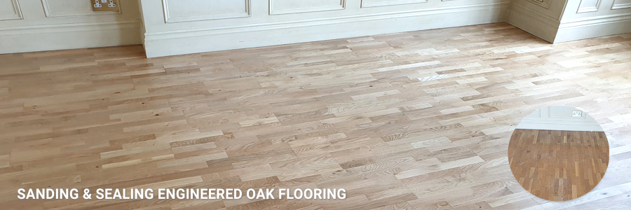 Engineered Oak Flooring Sanding Sealing
