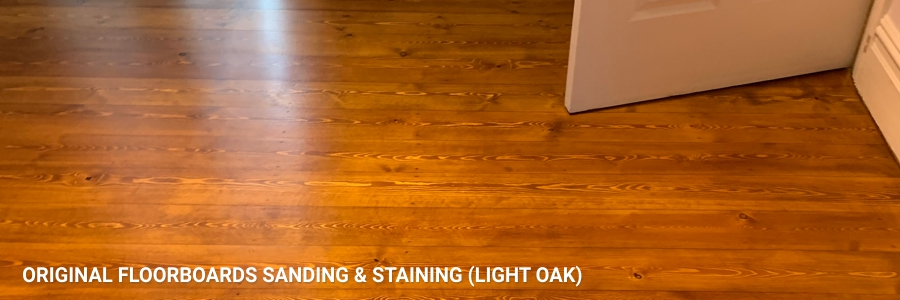 Floorboards Original Sanding Staining Light Oak 1