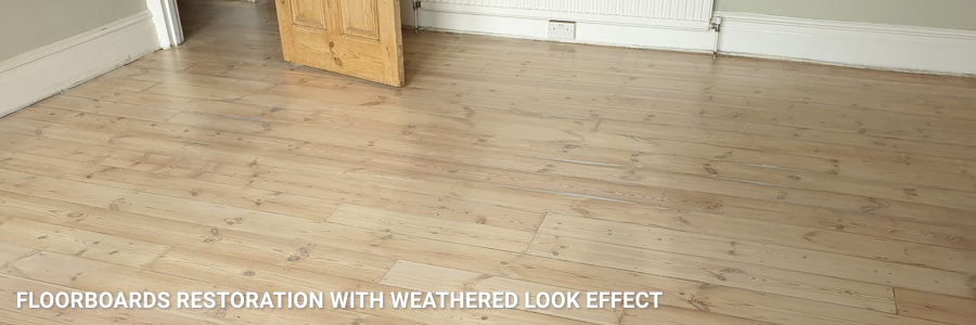 Floorboards Restoration In Weathered Effect