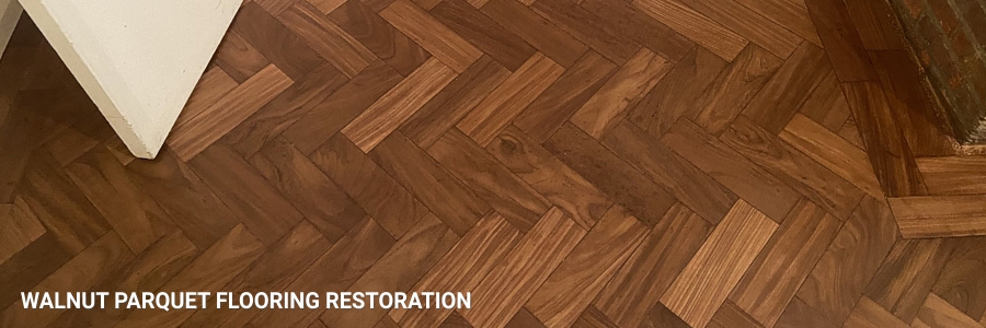 Parquet Flooring Walnut Restoration Sanding 2