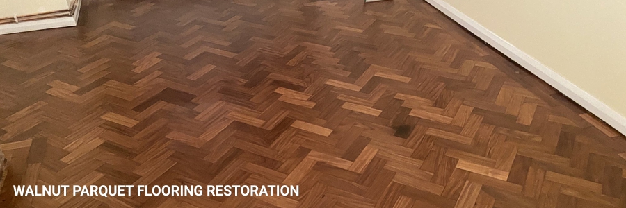 Parquet Flooring Walnut Restoration Sanding 3