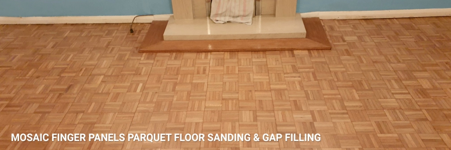 Parquet Mosaic Flooring Sanding Gap Filling Bormley