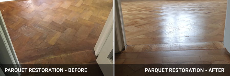 Parquet Restoration Before And After