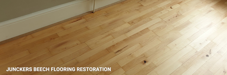 Solid Junckers Beech Flooring Sanding Restoration