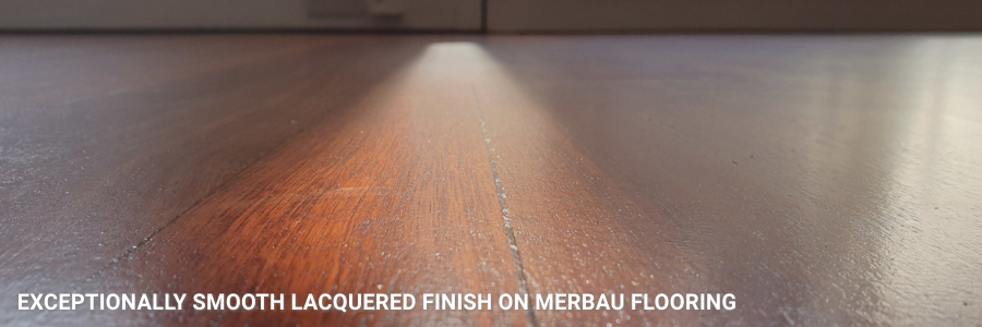 Solid Merbau Flooring Sanding Finishing