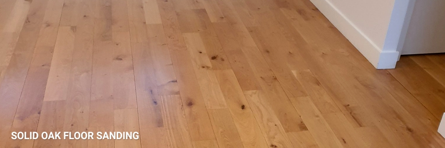 Solid Oak Floor Sanding 1