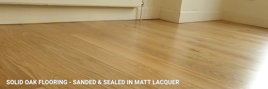 Solid Oak Flooring Matt Lacquer
