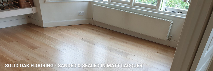 Solid Oak Flooring Sanding Sealing Matt Lacquer 5