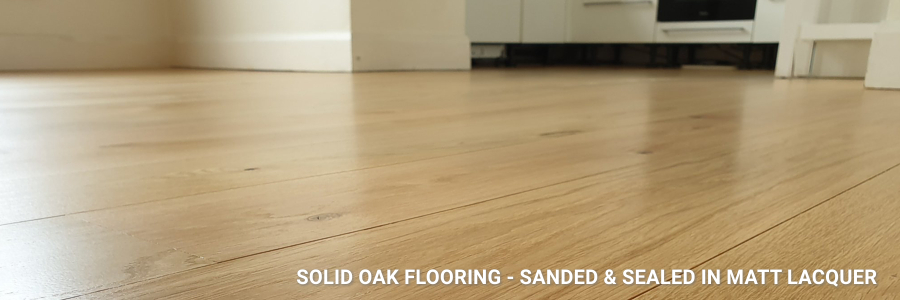 Solid Oak Flooring Sanding Sealing Matt Lacquer 6