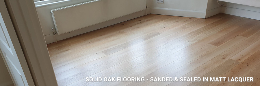 Solid Oak Flooring Sanding Sealing Matt Lacquer 7