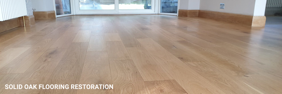 Solid Oak Flooring Sanding Sealing Restoration