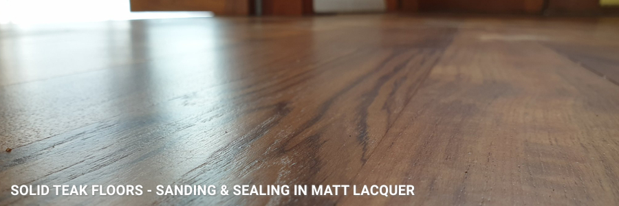Solid Teal Flooring Sanding Sealing Matt Lacquer