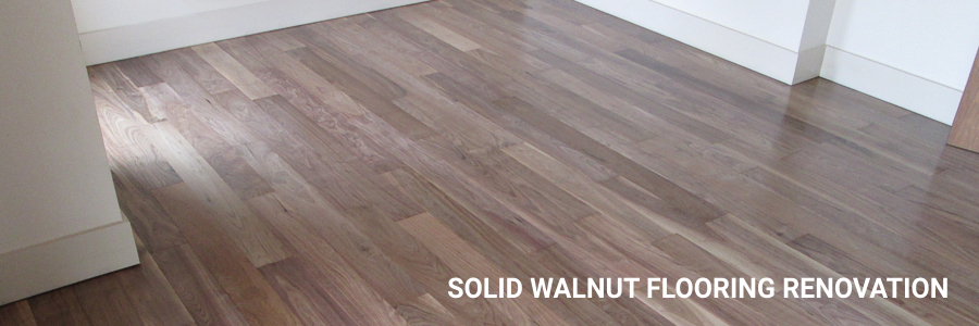 Solid Walnut Flooring Renovation