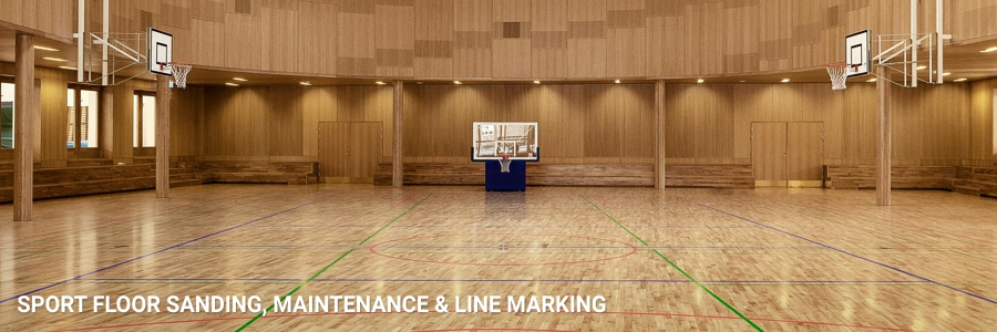 Sport Floors Sanding Line Marking