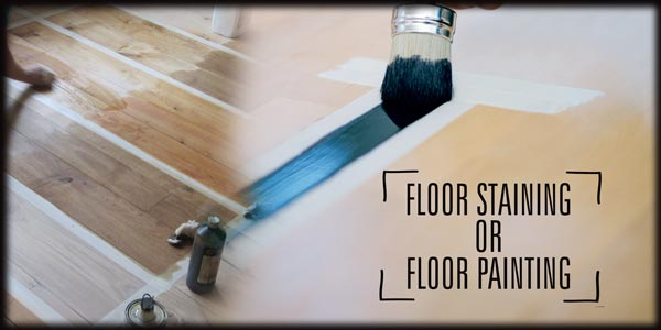 Staining And Painting A Wood Floor Is Not The Same Thing