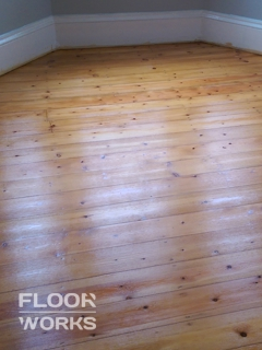 Floor refinishing project in South Tottenham