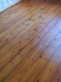 Floor refinishing project in Fulham