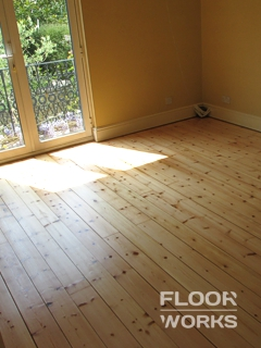 Floor refinishing project in Teddington