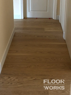 Floor refinishing project in Manor Park