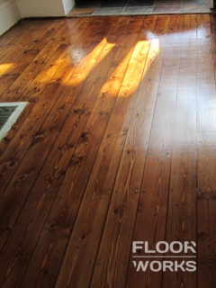 Floor refinishing project in Monument