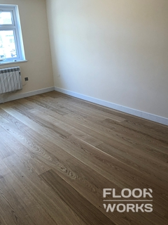 Floor renovation project in West London