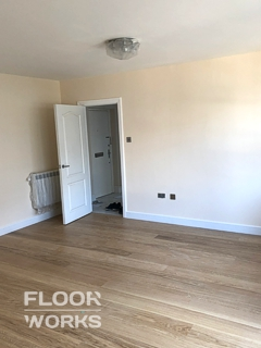 Floor refinishing project in Dalston