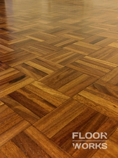 Floor refinishing project in Weybridge