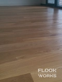 Floor refinishing project in Shirley