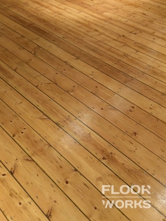 Floor refinishing project in Beddington
