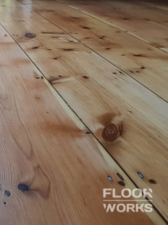 Floor refinishing project in Cross