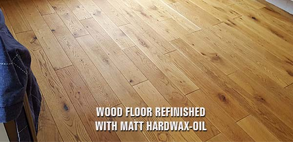 wood floor refinished with hardwax-oil
