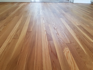 hardwood floor after sanding with buffing machine
