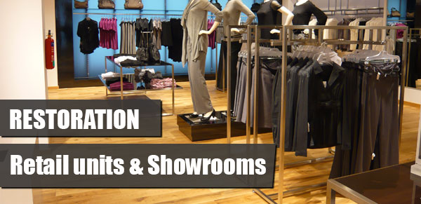 restoration services for wood floors in showrooms