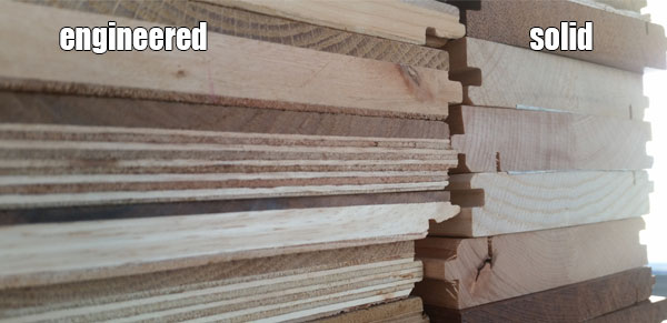 engineered and solid wood structure