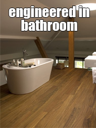 engineered wood flooring in bathroom