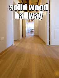 solid wood flooring in hallway