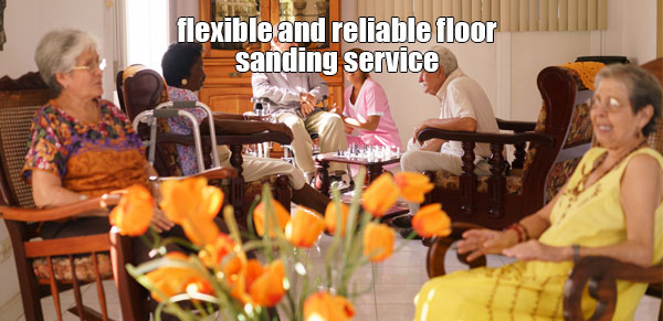wood floor sanding services for care and nursing homes